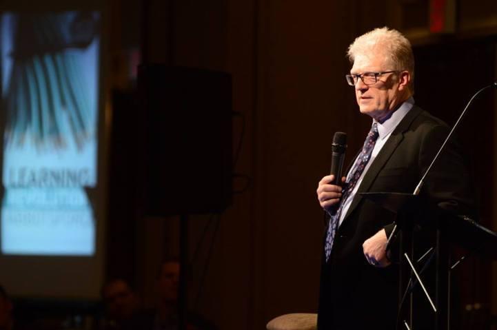 Sir Ken Robinson addresses the crowd