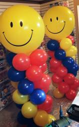 Spiral columns with Happy Face topper
